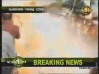 マラソンランナーのフリをしていた自爆テロ犯による自爆テロの瞬間
