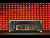 中国 LEDパネルで覆われた目立ちすぎる壁 ソーラーパワー